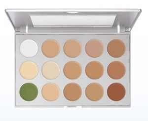 Kryolan 9015 Ultra Foundation Makeup Palette- 15 Colors (Universal)