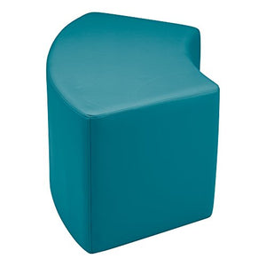 "Sprogs Vinyl Soft Seating Curved Stool/Bench, 18"" H, Teal, SPG-1013SF-A"