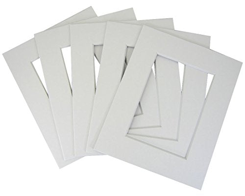 50 of white 8x10 conservation whitecore mat,fits 5x7 +back+bag