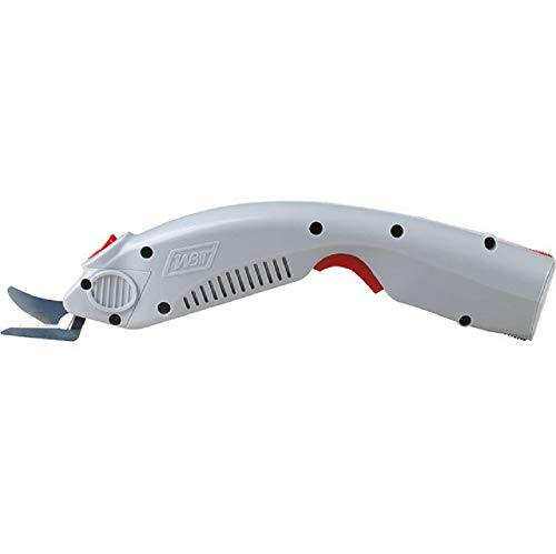 MXBAOHENG Wbt-1 Electric Scissors Cordless Fabric Shears Rechargeable Cutter with a Battery and a Blade for Cloth/Paperboard/Carpet/Leather