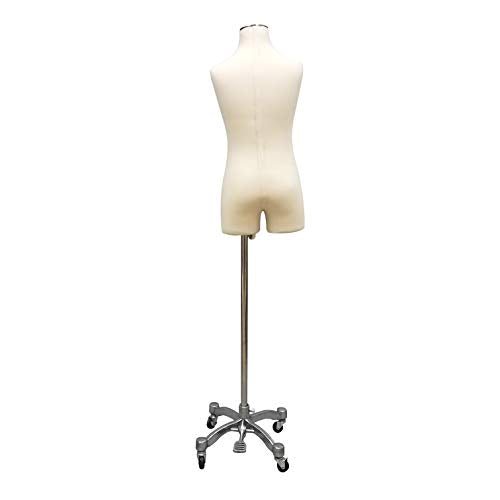 Fully Pinnable Child Dress Form Mannequin on Rolling Wheel Base