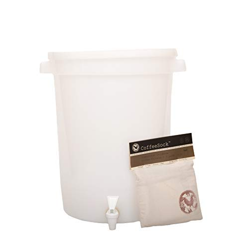 CoffeeSock 5 Gallon ColdBrew Kit- The Original Reusable Organic Cotton Coffee Filter and Container