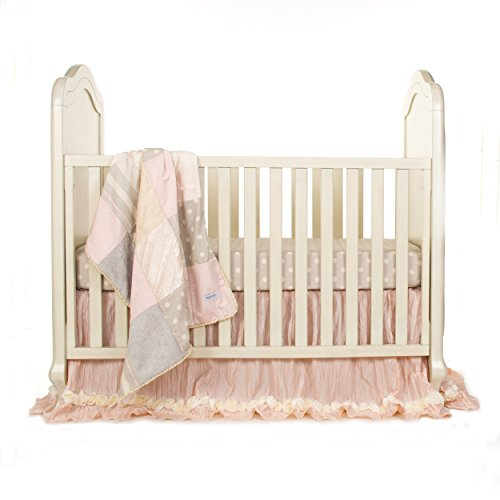 Glenna Jean Crib Skirt Contessa Dust Ruffle for Baby Nursery Crib