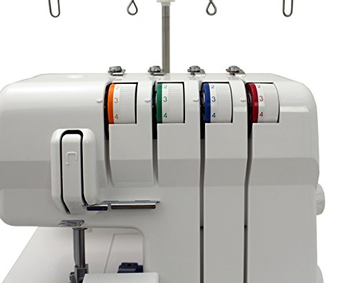 JUKI, MO-50E, 3 or 4 Thread Serger, Lay In Tensions, Adjustable Differential Feed, Built In Rolled Hem, Automatic Lower Looper Threader, Retractable Upper Knife