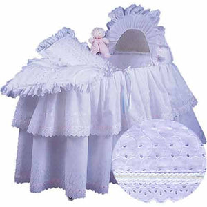 aBaby Little Angel Bassinet Skirt, White, Large