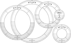 Handi Quilter Full-Step Ring Templates (Gold Set)