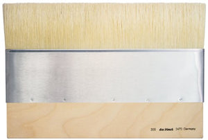 da Vinci 2470-300 Varnish & Priming Series 2470 Mottler Brush, Medium Hog Bristle with Plainwood Ledge Handle, Size 300