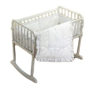 "bkb Simplicity Cradle Bedding, White 18"" X 36"""