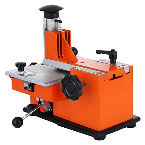 "Happybuy Semi-Automatic Sheet Embosser 2~4 Characters per Second Metal Embosser Working Plate 7.8""5.3"" Embossing Label Maker Machine with 4mm Aluminum Plate (4mm Plate)"