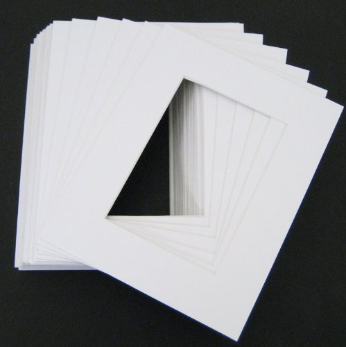 10 of White 16x20 conservation archival whitecore mat,fits 12x16 +back