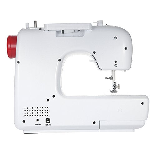 Decdeal Heavy Duty Electric Sewing Machine with 30 Stitch Patterns Double Thread Buttonhole Presser Foot Pedal AC100-240V