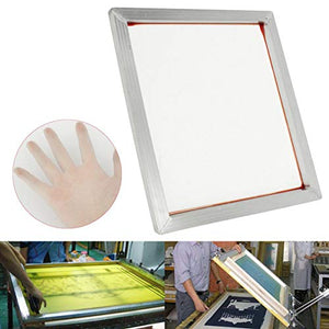 "INTBUYING 6Pcs 23""x31"" Screen Printing Frame Mesh Pre-Stretched Aluminum Internal Size 20x28inches (160 (64T) White Mesh)"