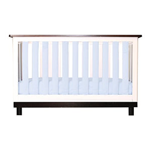 Pure Safety Vertical Crib Liners in Chalk Blue Cotton 24 Pack