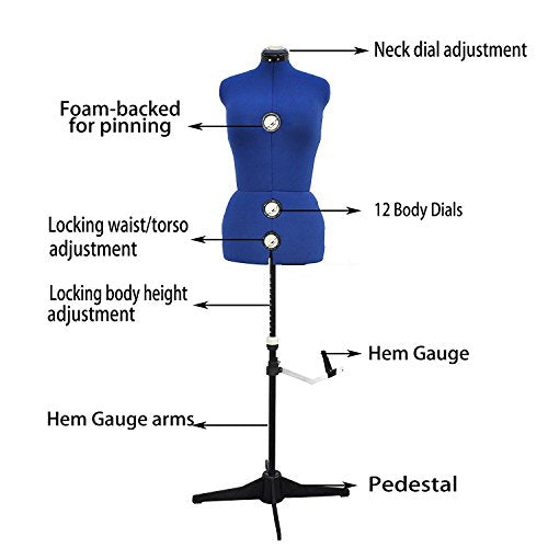13 Dials Adjustable Mannequin Dress Form, Medium