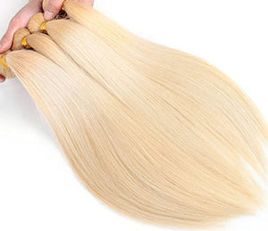 #613 Brazilian Straight Blonde Human Hair Extensions Blonde Hair Bundles 100% Real Human Hair, 30 Inch 1 Piece/lot