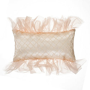 Glenna Jean Remember My Love Pillow, Rectangle, Reversible Pink/Cream Pintuck