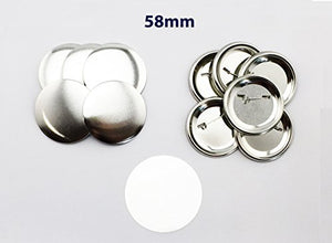 ChiButtons 58mm Metal Pin Badge Round (300Sets) Metric System
