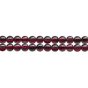 January Birthstone Necklace Bracelet Earrings Jewelry Beading Materials AAAA Natural Red Garnet 6mm Loose Beads in Bulk Wholesale Sold by One Strand 15 Inch Apx 60 Pcs