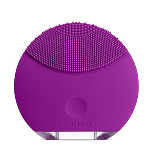 FOREO LUNA Mini Silicone Face Brush with Facial Cleansing for All Skin Types, Purple