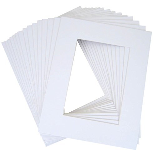10 of White 20x24 conservation archival whitecore mat,fits 16x20 +back