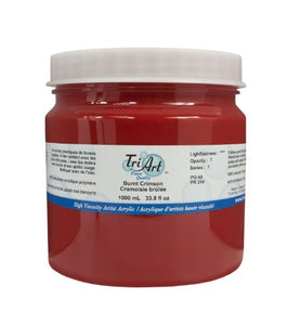 Tri-Art High Viscosity Paint, 1000ml, Burnt Crimson