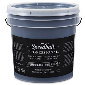 Speedball 004940 Acrylic Screen Printing Ink 32 fl. oz. Poster Black