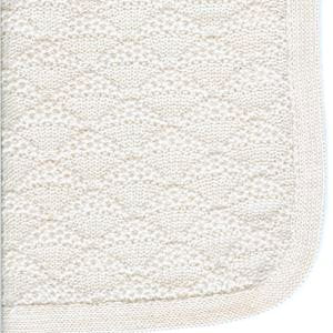 Baby Blanket & Lap Throw,100% Baby Alpaca Wool, Unisex, Hypoallergenic, Dye Free, Pure & Natural (Cream)