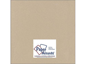 Accent Design Paper Accents ADPaperRecycled12x12BulkKraft Cdstk Recycled 12x12 80# Kraft Bulk