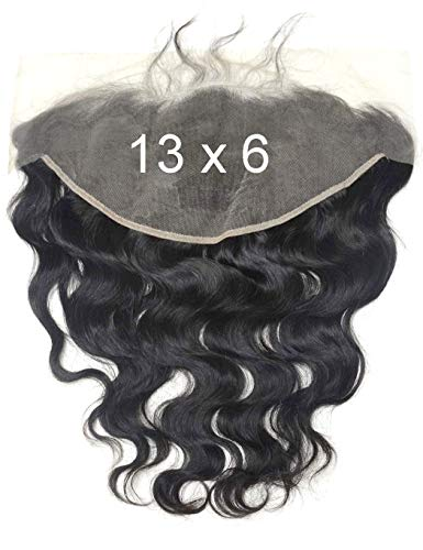 BLUPLE Boby Wave 13x6 Ear to Ear Lace Frontal Closure Brazilian Human Virgin Hair Bleached Knots Full Lace Frontal Piece with Baby Hair for Black Women Natural Color (16 inches, Body Wave)