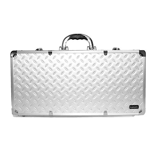HairArt Barber Case Silver & Black #791560 Barber Kit Tool Case, Tools Not Included