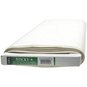 "Sulky 551-25 Sticky Self, Adhesive Tear, Away Stabilizer, 22.5"" by 25 yd"