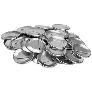 Neil Enterprises Pin Back Button Parts for Use with Machine - 2.25 Inch - Pack of 500