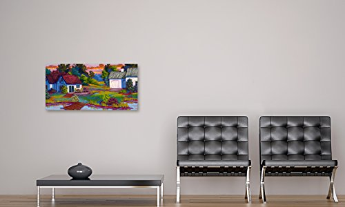 Gallery Direct 'End of The Road' Canvas Gallery Wrap by Susan Webster, 24-Inch by 12-Inch
