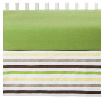 Mod Dots/STRPS Green 6pc Crib Set