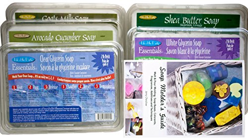 10 lb. Sampler Pack of Goat's Milk, Clear, White, Avocado Cucumber, Shea Butter Melt and Pour Vegetable Glycerin Soap Bases