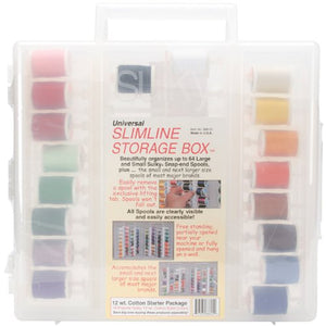 Sulky 886-01 Slimline Starter Assorted Thread Set, Cotton, Size 12
