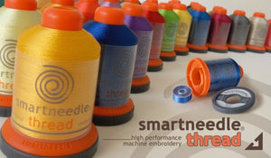 50 Spools Embroidery Thread Collection, Includes 50 color bobbins TYPE L, By Smartneedle