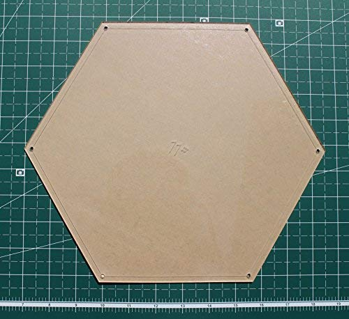 "Hexagon Quilting Template Set, 5"", 6"", 7"", 8"", 9"", 10"", 11"", 12"" with 1/4"" Seam Allowance"