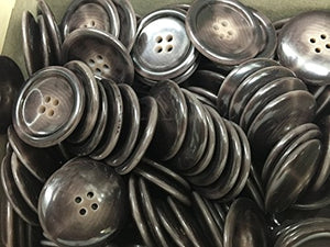 "144 marine grey HORN BUTTON , COLOR # 209 LIGNE 50 -1-1/4"" 32mm 1 Gross 4 Hole"
