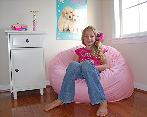 Ahh! Products Pink Organic Cotton Large Bean Bag Chair