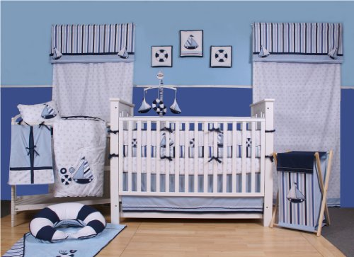 Little Sailor 10 pc Crib Set Bumper Free