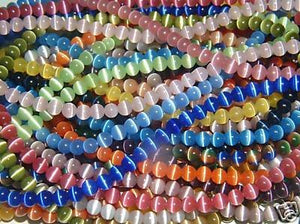 "8mm Cat's Eye bead Strands Grade ""A"" Fiber optic, 32 Colors to choose from (32 Strands (One of each color))"