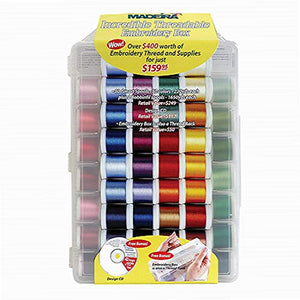 Madeira Incredible Threadable Embroidery Box 80 Rayon Smart Spools 20928082