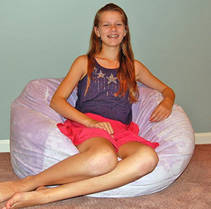Ahh! Products Cuddle Minky Lavender Washable Large Bean Bag Chair