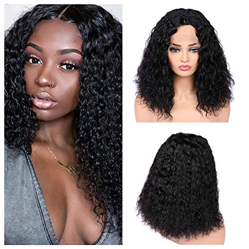 Quantum Love Lace Front Deep Curly Wavy Wig Brazilian Virgin Human Hair Wigs Glueless 150% Density Natural Color Wigs For Women