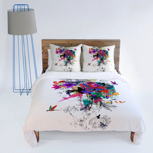 Deny Designs  Holly Sharpe Tropical Girl Duvet Cover, Queen