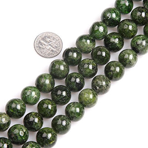 GEM-inside AAA Grade Green Diopside Gemstone Loose Beads Natural Round 12mm Crystal Energy Stone Power for Jewelry Making 15''