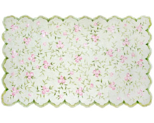 "The Rug Market Kids Rugs Sweet Rose, Pink/Green, 2' 8"" x 4' 8"""