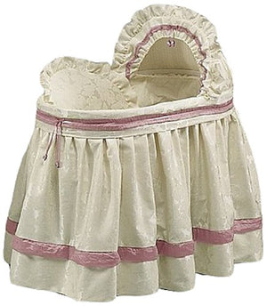 Babydoll Bedding Baby King Brocade Bassinet Bedding Set, Hot Pink