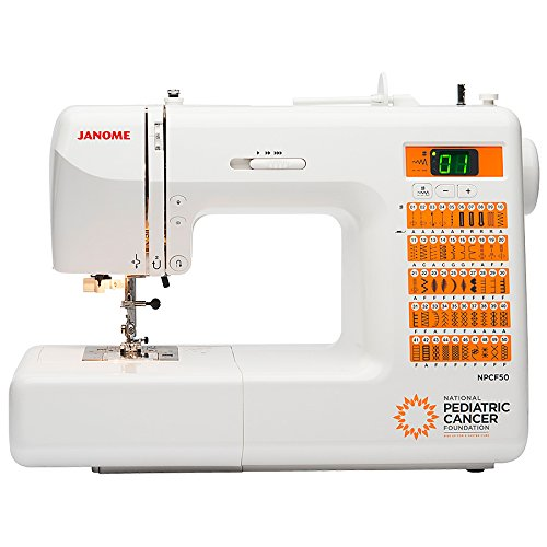 Janome National Pediatric Cancer Foundation NPCF50 Computerized Sewing Machine with Bonus Bundle